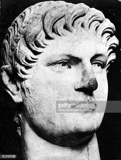 Circa 65 AD, A bust of the Roman Emperor Nero .