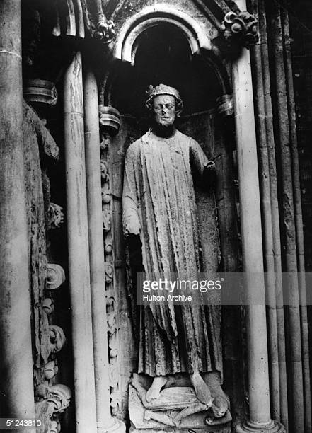 Circa 839 AD King Egbert of Wessex who was recognised as the supreme ruler of all AngloSaxon kings in England in 829 at Wells Cathedral Somerset