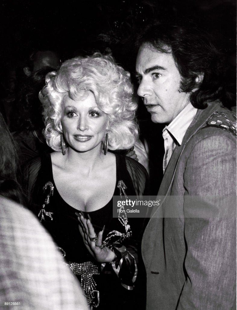 Dolly Parton and Neil Diamond at a after concert party held at Victoria Station in Universal City, CA.