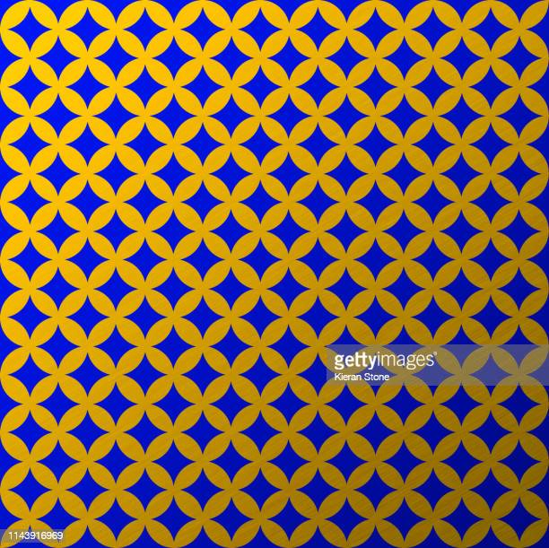 circle flower pattern gold - royal blue stock pictures, royalty-free photos & images