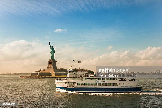 Circle Line ferry at Liberty island