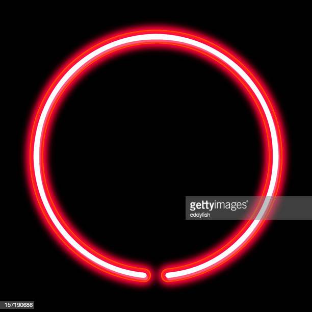 circle neon light - neon stock pictures, royalty-free photos & images