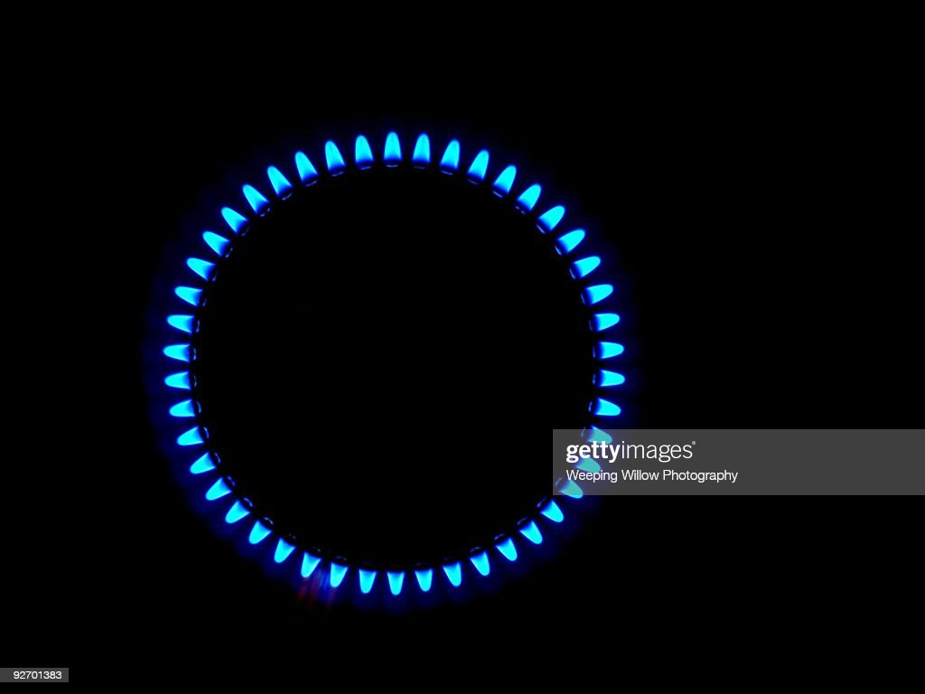 Circle of Blue Flames : Stock Photo