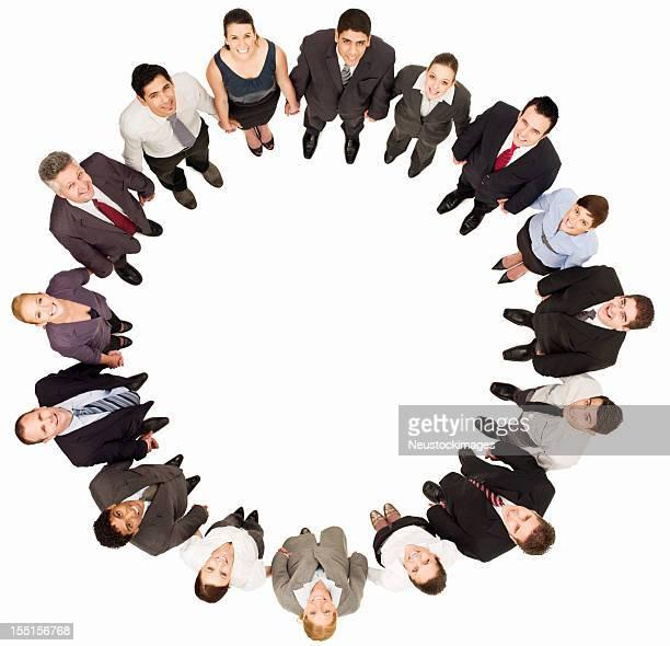 Groupe d'hommes et de femmes d'affaires-isolé