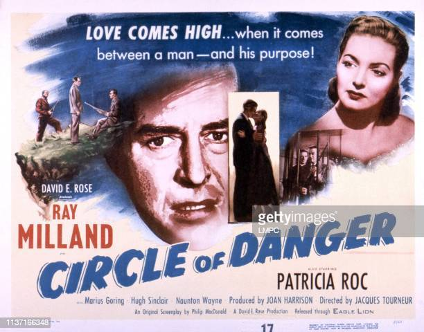 Circle Of Danger poster faces from left Ray Milland Patricia Roc 1951