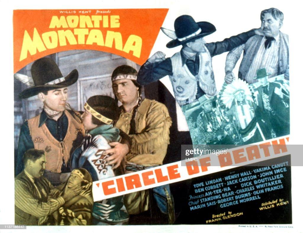 Circle Of Death, lobbycard, Montie Montana, Yakima Canutt