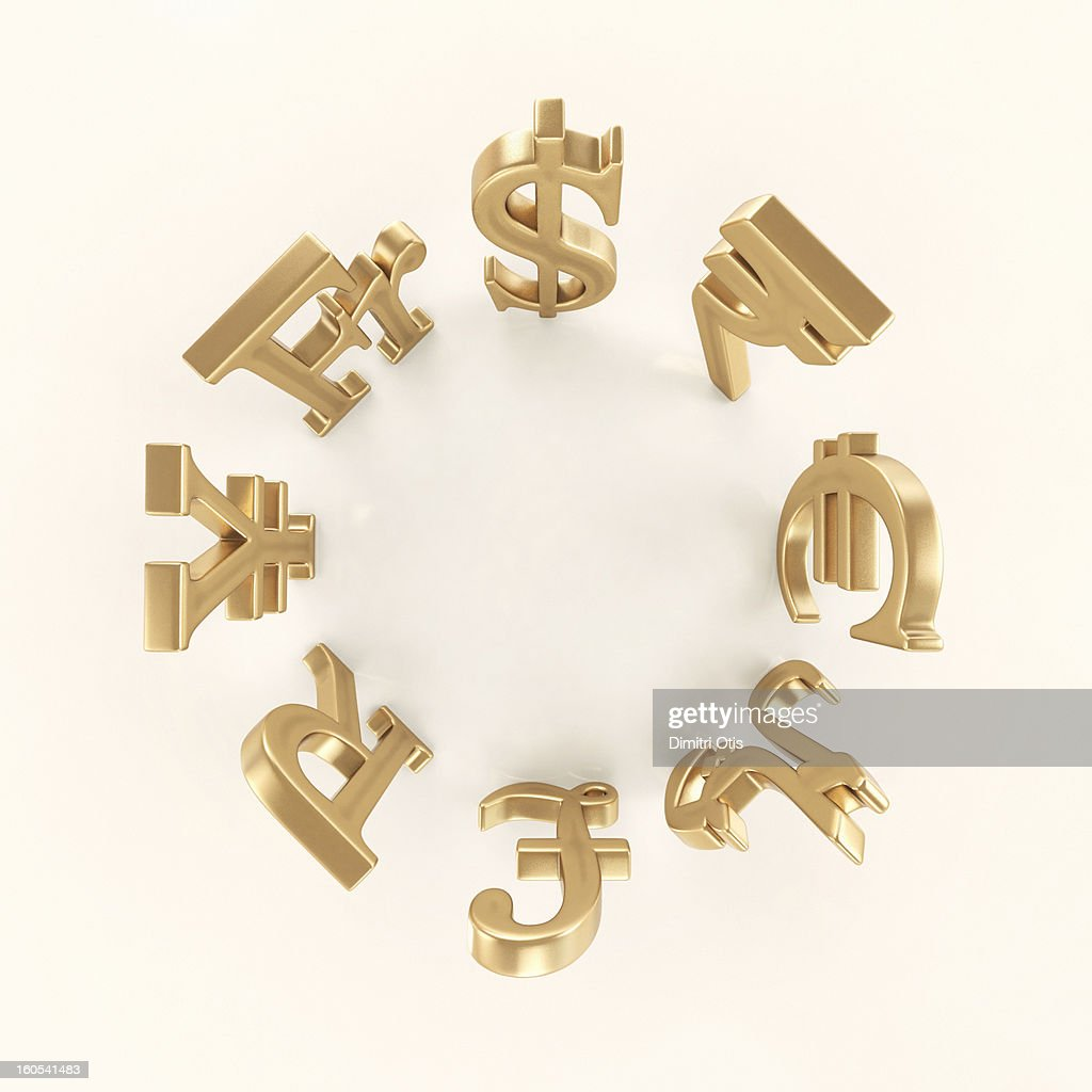 Circle Of International Currency Symbols Stock Photo Getty Images
