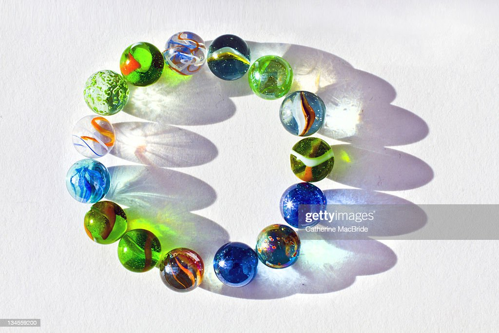 Circle of marbles : Stock Photo