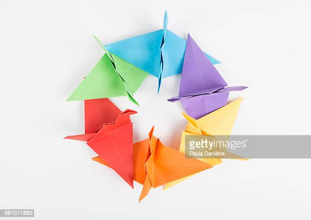 Circle of Origami Cranes