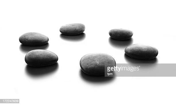 circle of pebble stones - small group of objects stock pictures, royalty-free photos & images