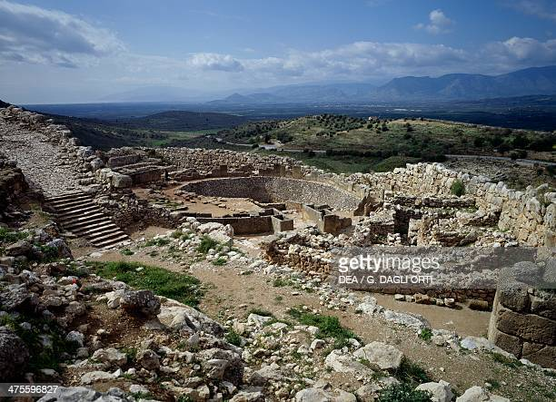 Circle of the royal tombs of the Mycenae Acropolis Argolida Greece Mycenaean civilisation 17th11th century BC