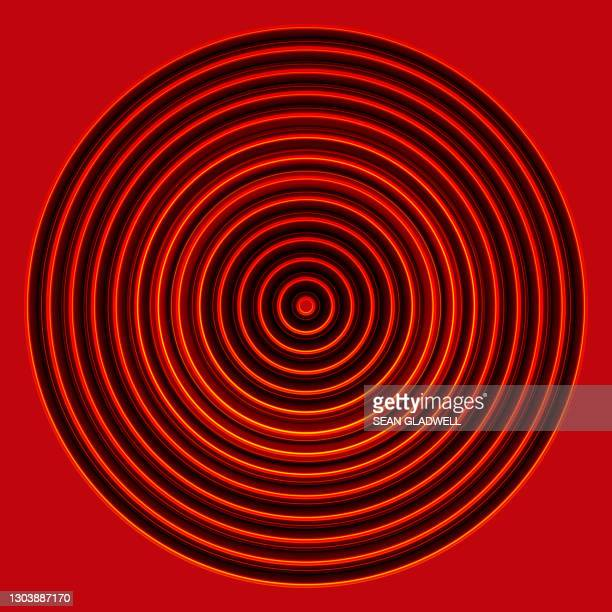 circle pattern on red - graphic print stock pictures, royalty-free photos & images