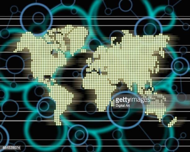 Circles and World Map