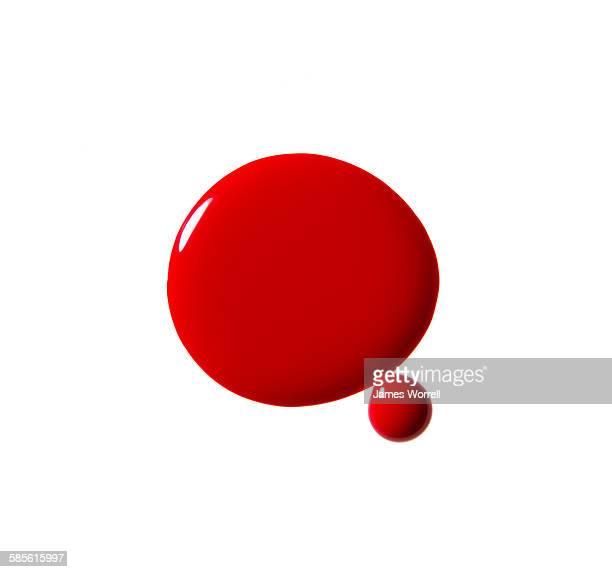circles of red nail polish - マニキュア液 ストックフォトと画像