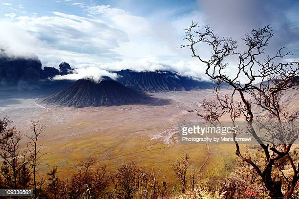 circling cloud above mt. batok - tengger stock pictures, royalty-free photos & images