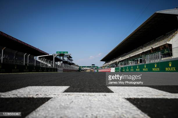 Circuit atmosphere - the start / finish line at the Circuit de la Sarthe on September 16, 2020 in Le Mans, France.