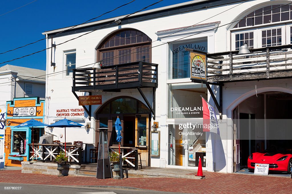 Circuito Avenue, a Oak Bluffs, Martha's Vineyard, Massachusetts, Stati Uniti. : Foto stock