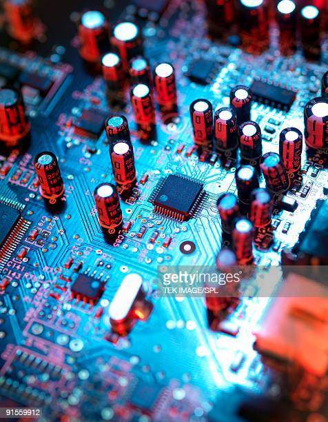 Circuit board, close-up