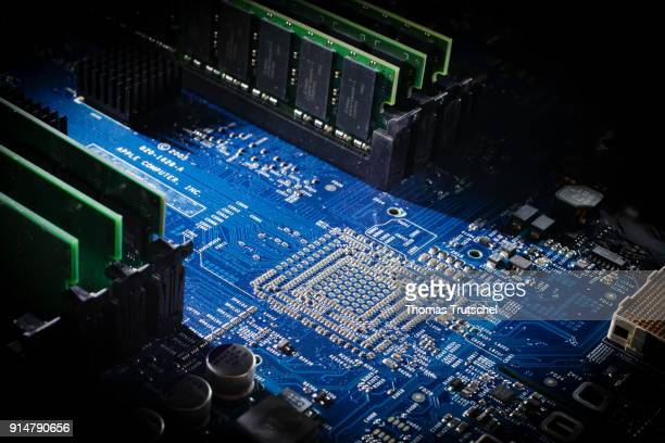 Circuit board of a computer on February 05 2018 in Berlin Germany
