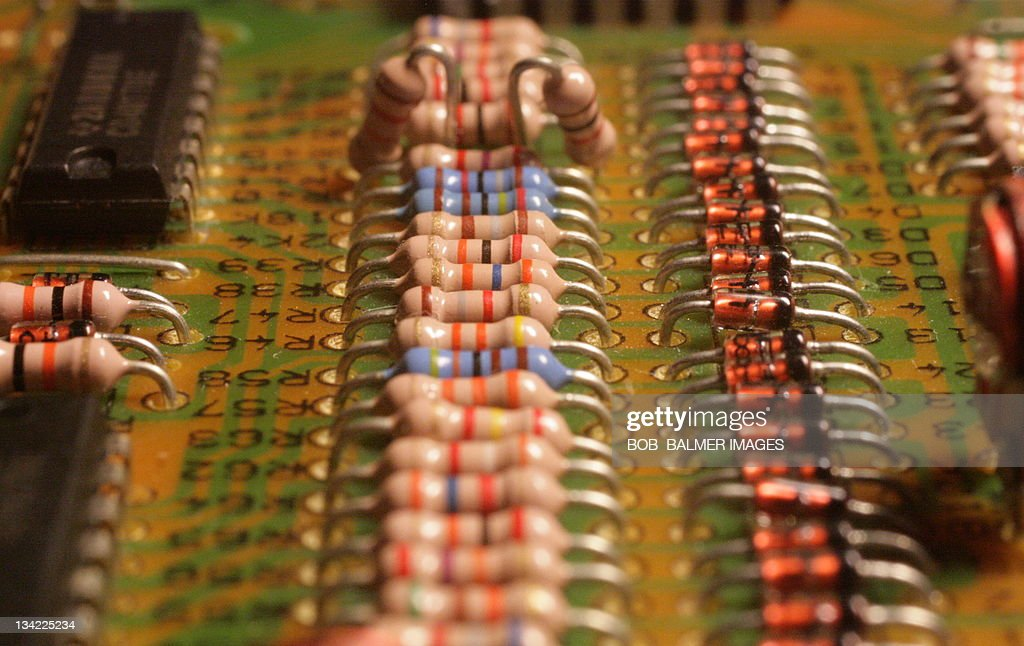 Circuit Board Resistors In Line Stock Photo - Getty Images