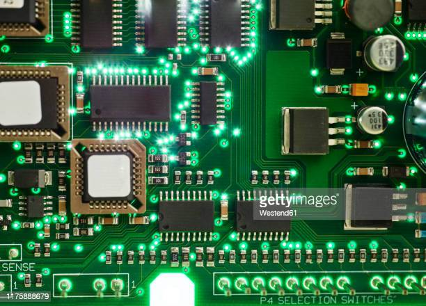 circuit board with electronic components - cpu stock pictures, royalty-free photos & images