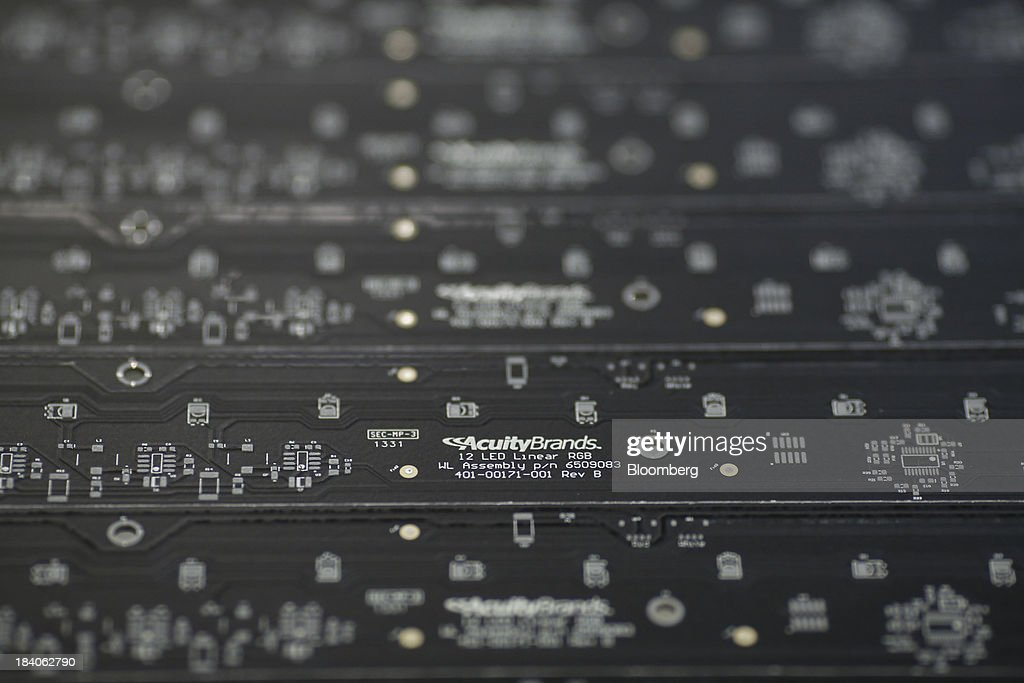 LED circuit boards are displayed at the Lithonia Lighting manufacturing facility a subsidiary of Acuity Brands & Crawfordsville Indiana Stock Photos and Pictures | Getty Images azcodes.com