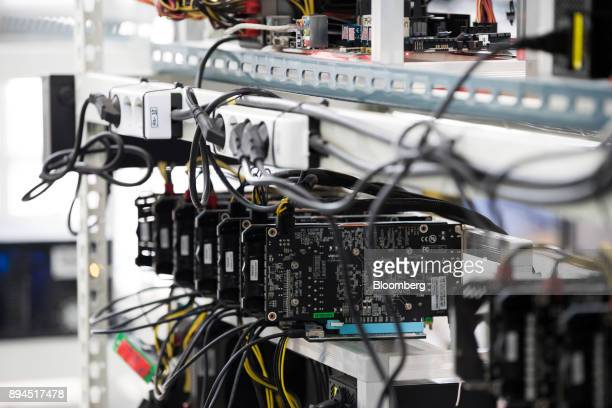 Circuit boards sit on shelves at a cryptocurrency mining facility in Incheon South Korea on Friday Dec 15 2017 Hedge funds are pulling out of gold...