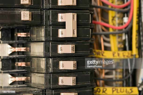 Circuit Breakers in einer wohnlichen Electric Panel