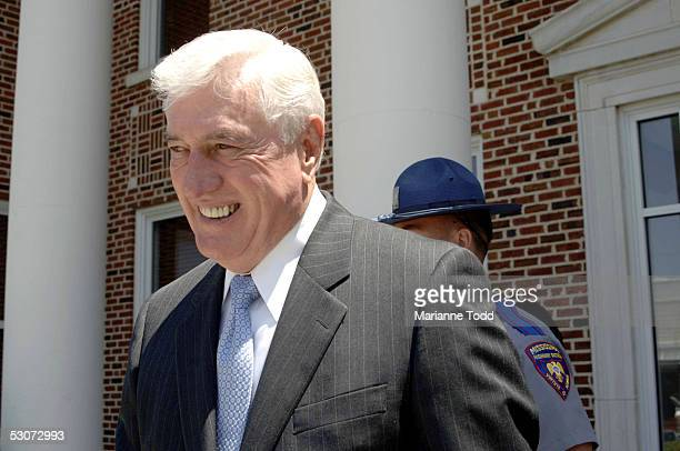 Circuit Judge Marcus Gordon exits Neshoba County Courthouse after opening arguments in State of Mississippi vs Edgar Ray Killen on June 15 2005 in...