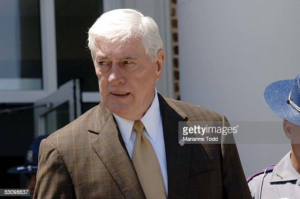 Circuit Judge Marcus Gordon leaves the Neshoba County Courthouse after recessing on June 18 2005 in Philadelphia Mississippi The prosecution in the...