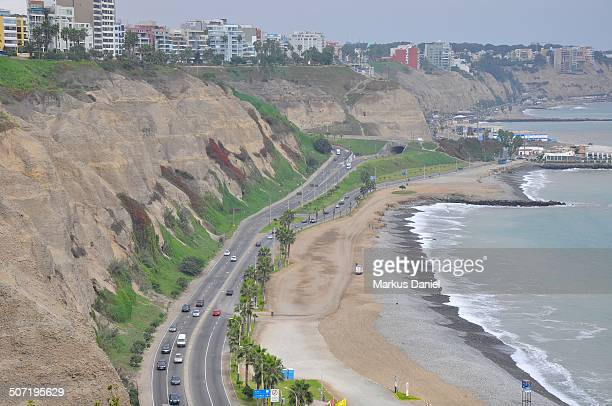 circuito de playas highway in lima, peru - markus daniel stock pictures, royalty-free photos & images