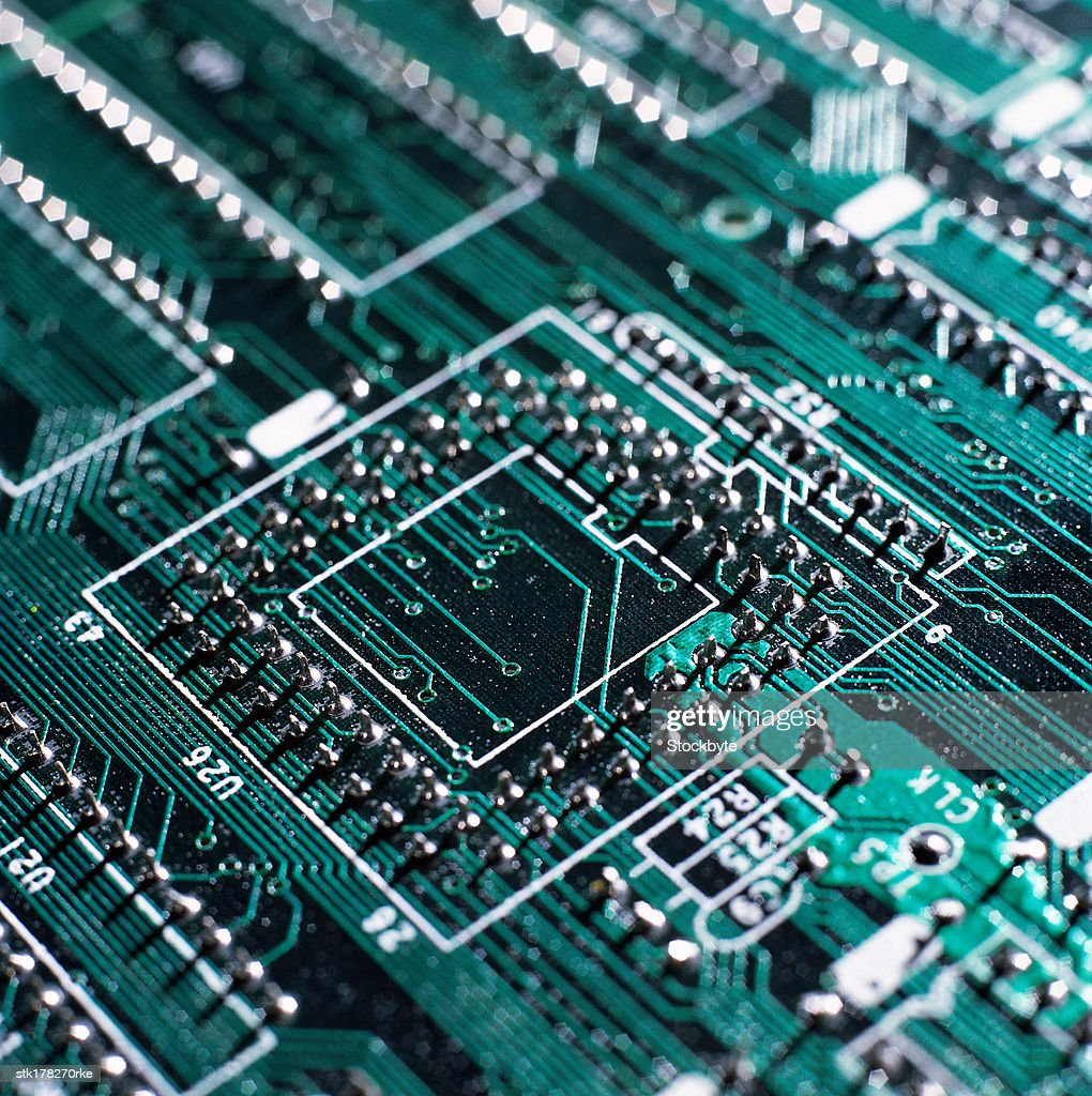 Circuitry On A Electronic Circuit Board Stock Photo Getty Images Design