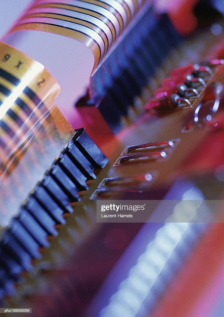 Circuits, close-up. : Stockfoto