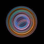 Circular abstract fractal