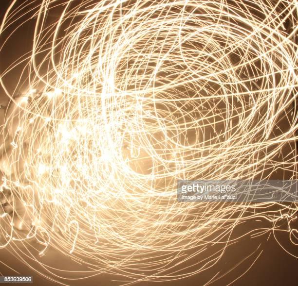 Circular abstract light painting