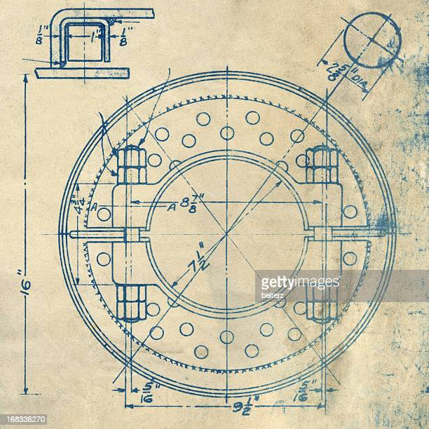 circular blueprint - diagram stock pictures, royalty-free photos & images