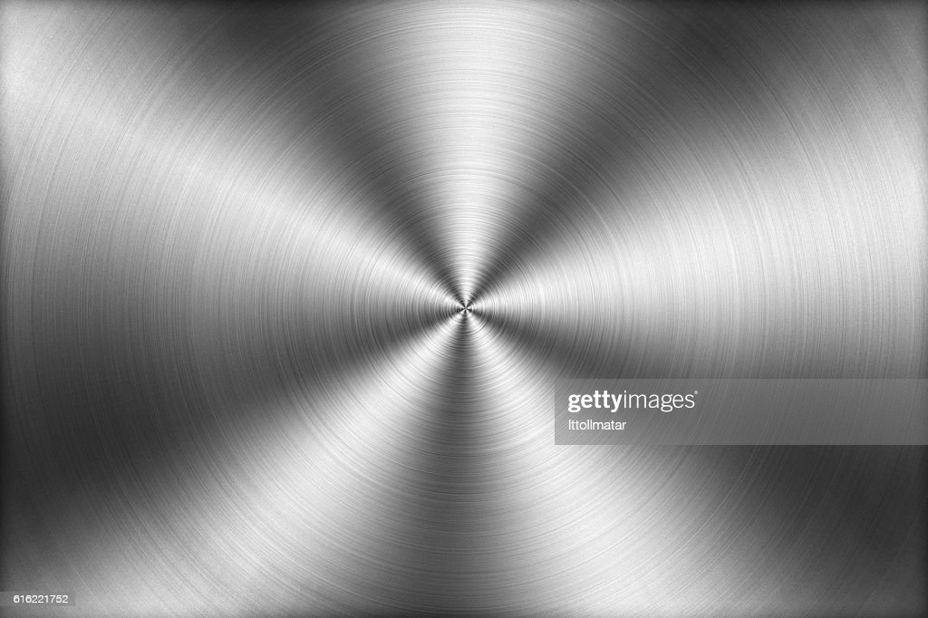Circular brushed metal texture background,illustration : Foto stock