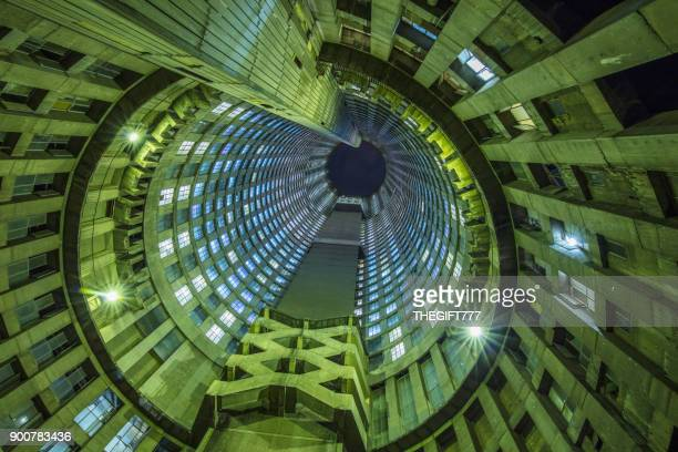 circular building seen from the inside upward - gauteng province stock pictures, royalty-free photos & images