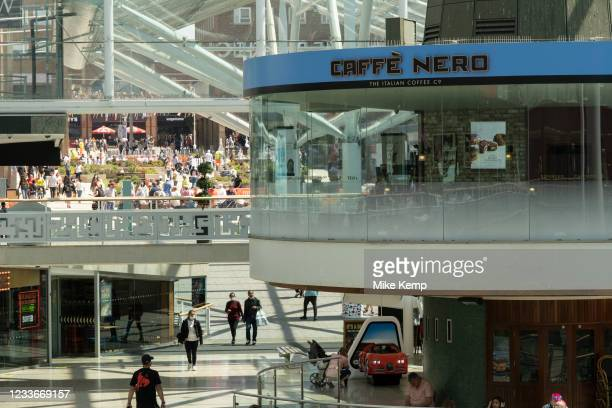 Circular Cafe Nero, once the revolving Godiva Cafe in the Lower Precinct Shopping Centre in the UK City of Culture 2021 on 23rd June 2021 in...