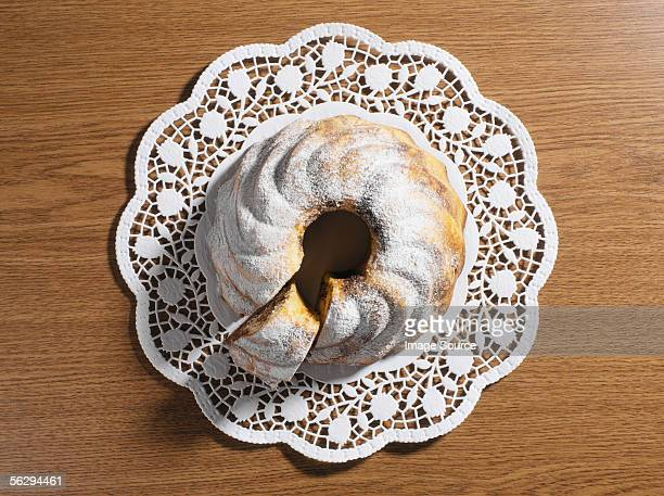 circular cake - doilie stock photos and pictures