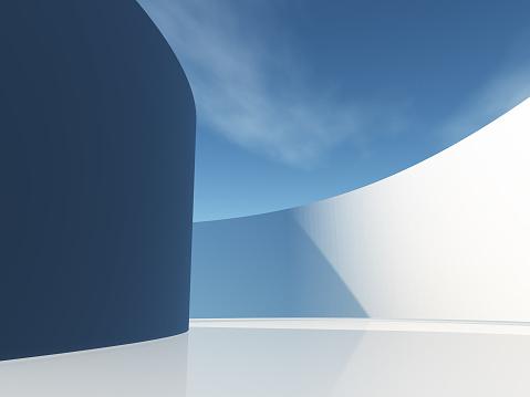 Circular hallway with sky 1066969708