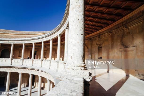 Circular patio of the Renaissance Palace of Charles V