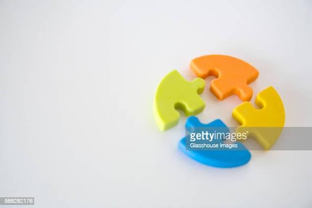Circular Puzzle Pieces