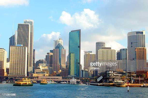 Circular quay of Sydney skyline