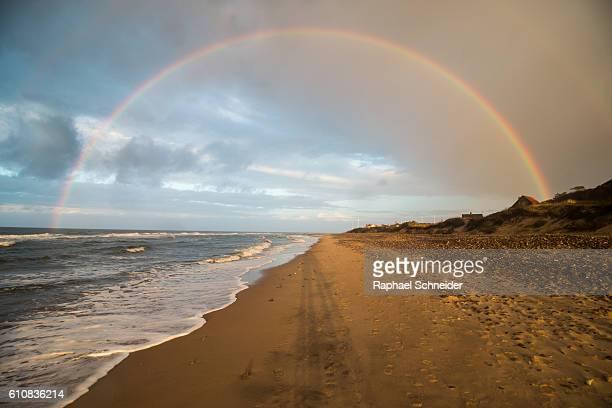 Circular rainbow over beach, northern Zealand, Denmark