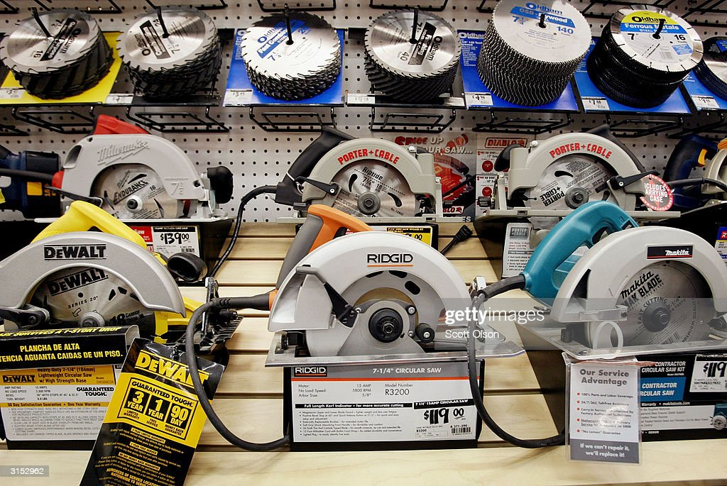 Circular Saws Are Displayed At A Home Depot Store March 29