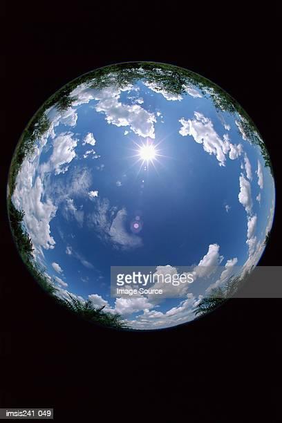 circular sky - 魚眼撮影 ストックフォトと画像