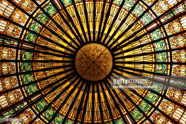 circular stained glass window, lima - lima stock pictures, royalty-free photos & images