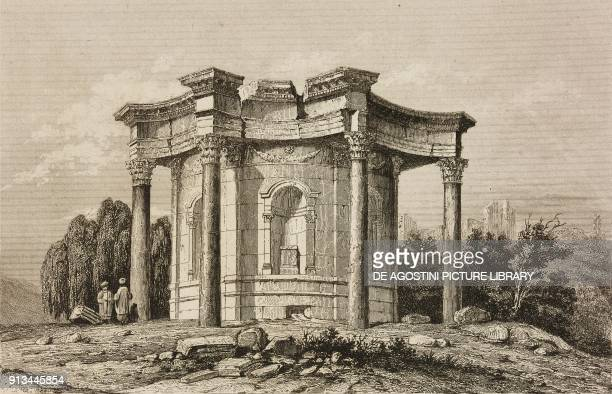 Circular Temple or Temple of Venus Baalbek Lebanon engraving by Lemaitre from Syrie ancienne et moderne by Jean Yanosky and Jules David L'Univers...