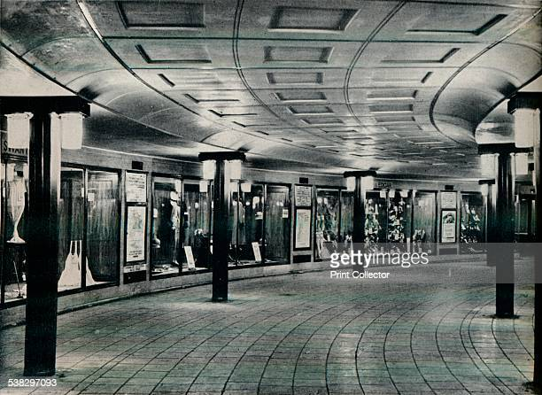 Circulating area of Piccadilly Circus Station 1929 The station was opened on 10 March 1906 and was designed by Charles Henry Holden From The Studio...